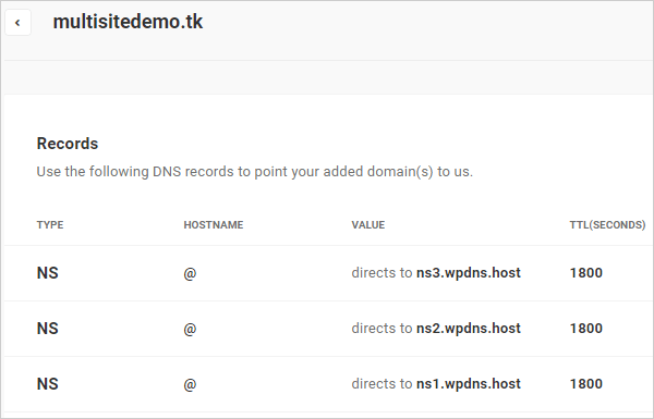 Add domain to DNS