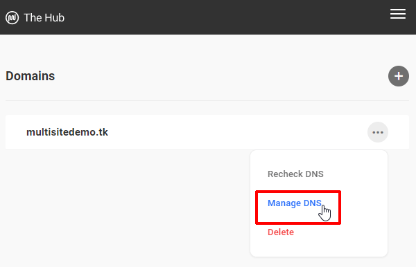Domains - Manage DNS