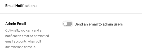 Where you can set it to send an email to admin users.