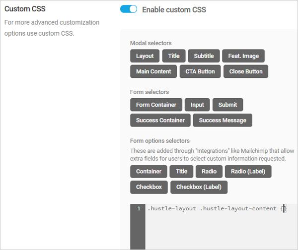 Hustle Custom CSS