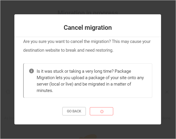 Cancel Migration