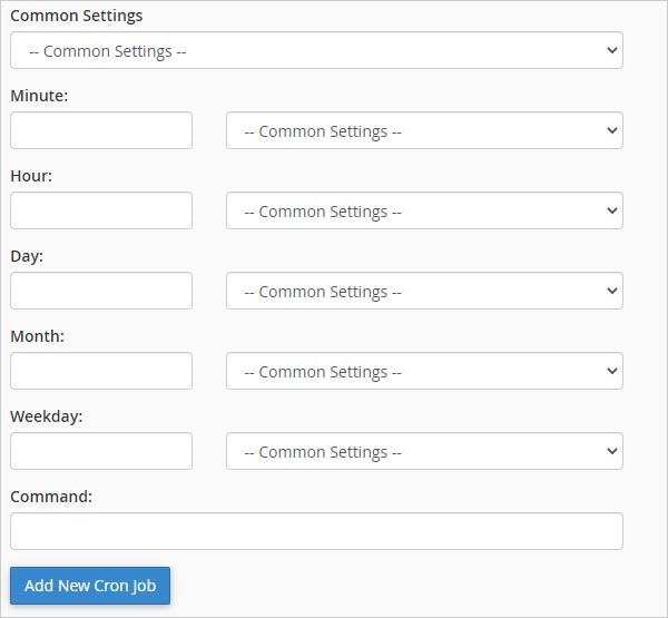 Cron - Common Settings