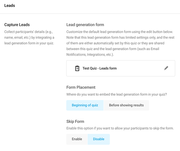 Where you'll edit the form placement.