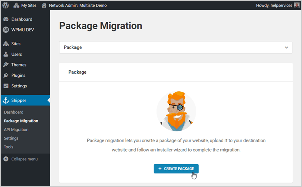 Shipper - Package Migration