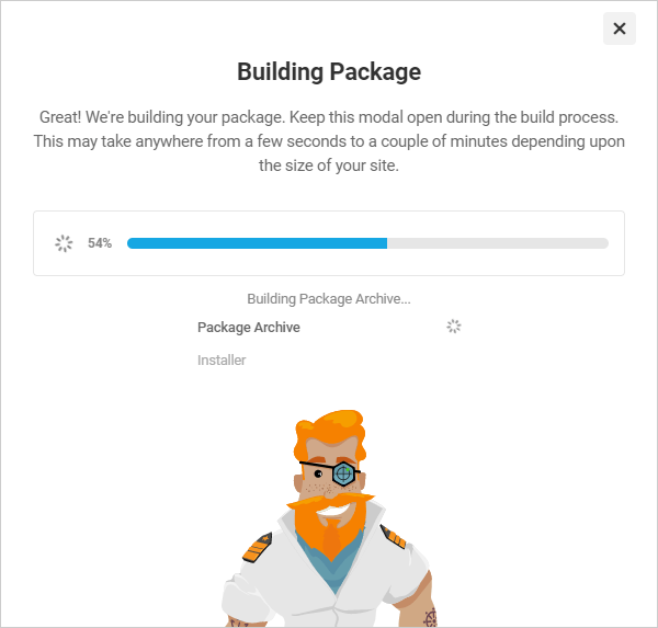 Shipper Building Package modal