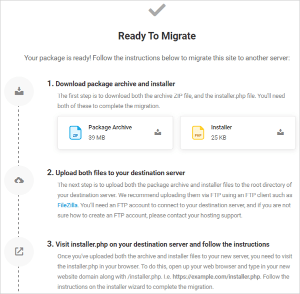 Shipper - Package Ready modal