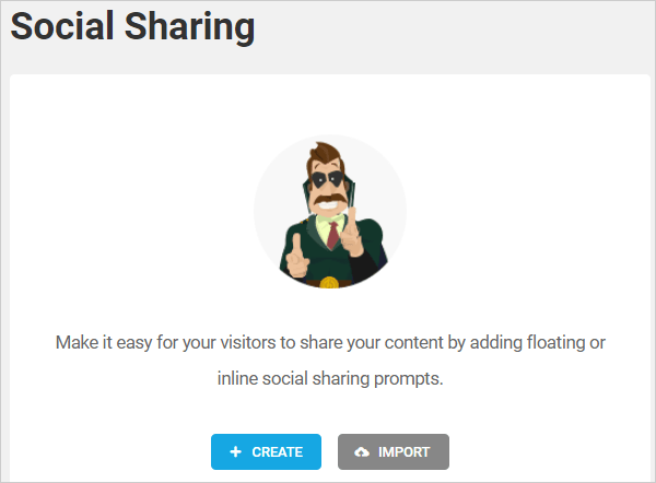 Hustle Social Sharing