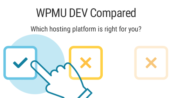 A preview of our WPMU DEV compared page