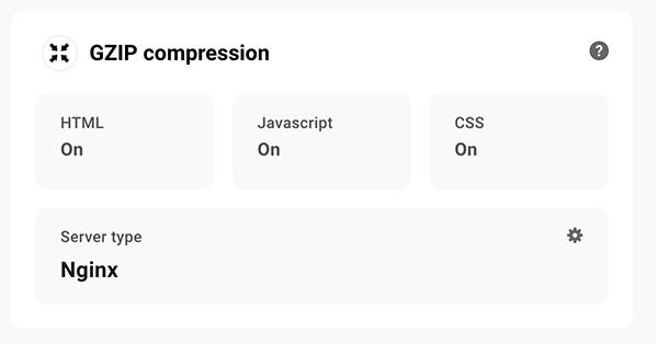GZIP compression area.