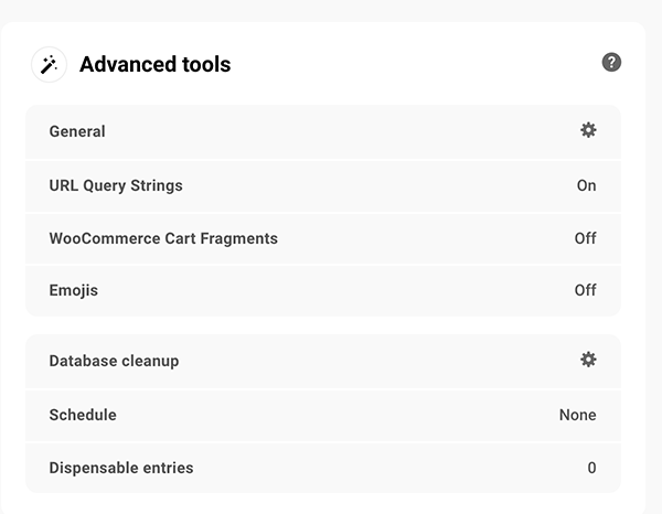 Where you access advanced tools.