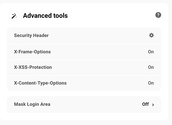 Advanced tools for security.