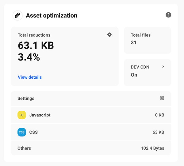 Asset optimization area.