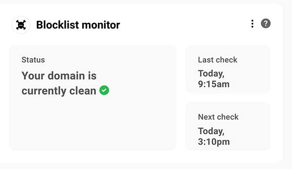 Blocklist monitor.