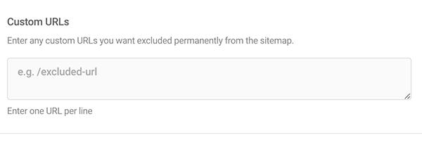 Where you add custom URLs.