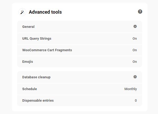 The Hub: Performance Tab - Advanced Tools panel.