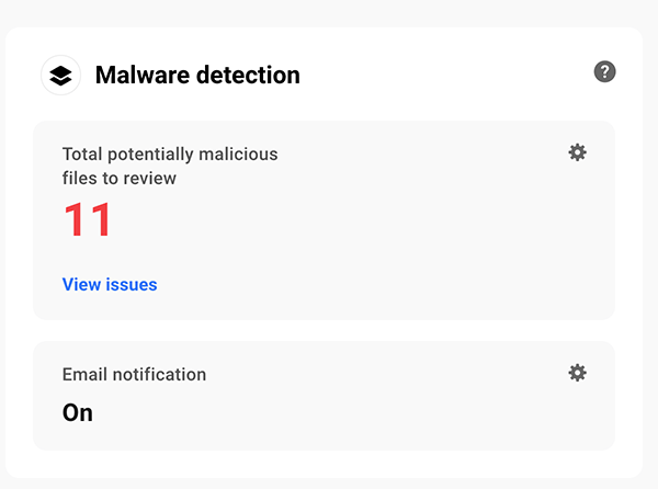 The malware detection area.