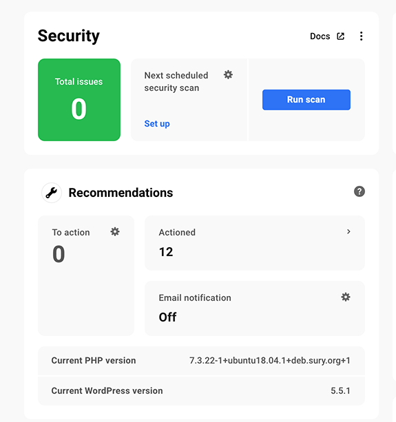 Security issues and recommendations.