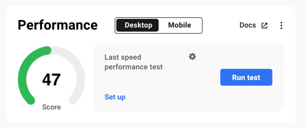 Performance score.