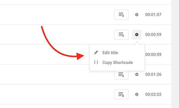 جایی که عنوان را ویرایش می کنید و کد کوتاه را کپی می کنید.