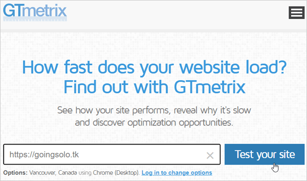 GTmetrix Page Speed Test