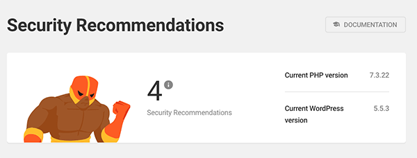 The number of security recommendations.