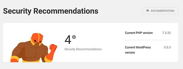 تعداد توصیه های امنیتی.