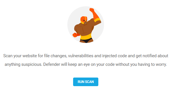 Screenshot of Defender's first malware scan page
