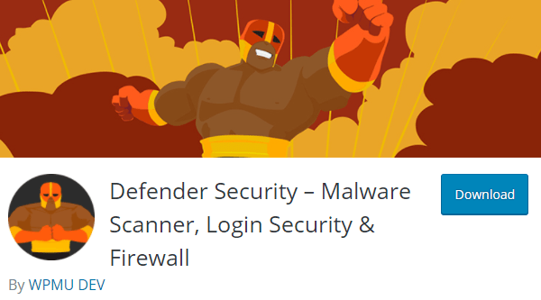 Screenshot of Defender's page header from wp.org