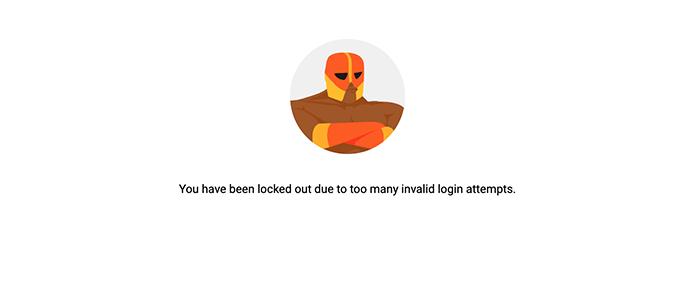 Defender image showing lockout.