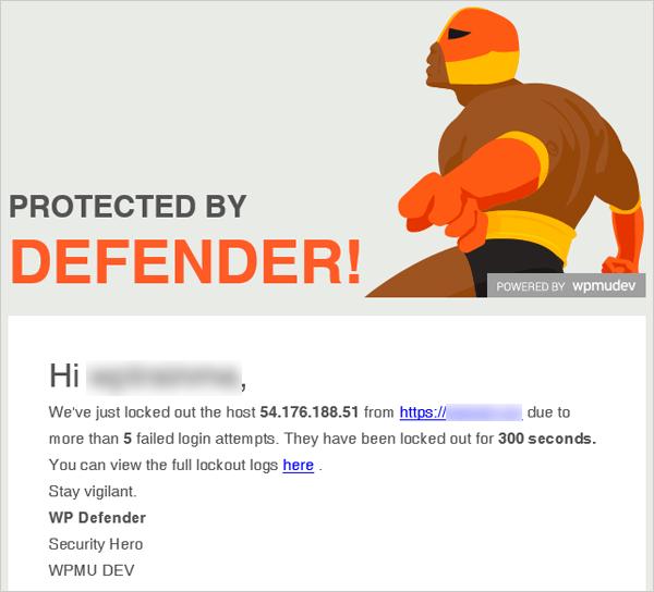 Defender Lockout Notification