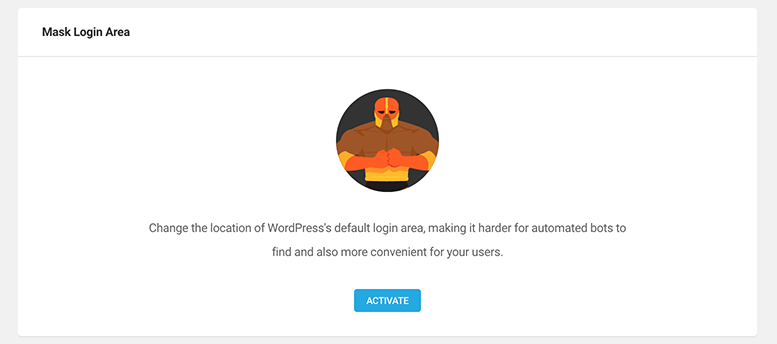 Where you activate the masked login area.