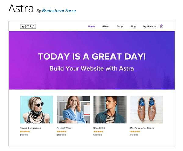 The Astra theme.
