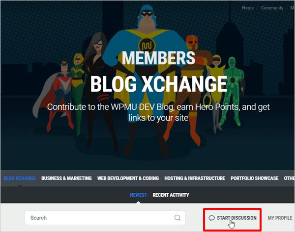 WPMU DEV Members Blog XChange - Start Discussion