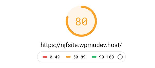 Google page speed test.