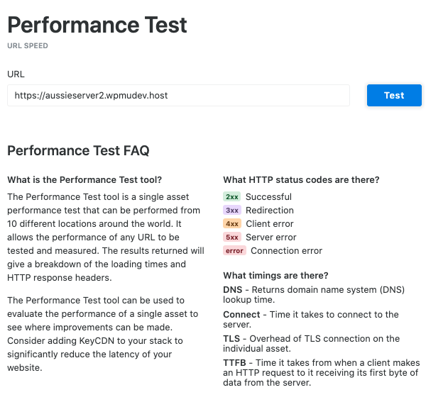 A look at the Key CDN performance test we used for testing