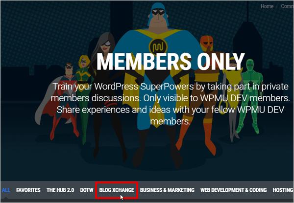 WPMU DEV Members Blog XChange