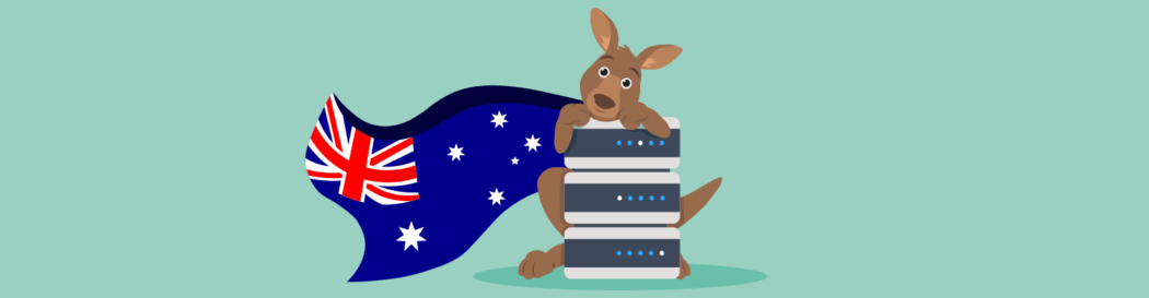 A cute picture showing our new Australian hosting location, complete with Kangaroo