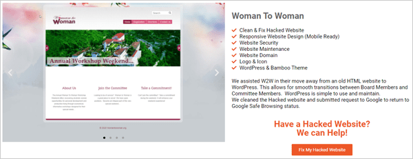 Woman 2 Woman - Fixed Hacked Site.