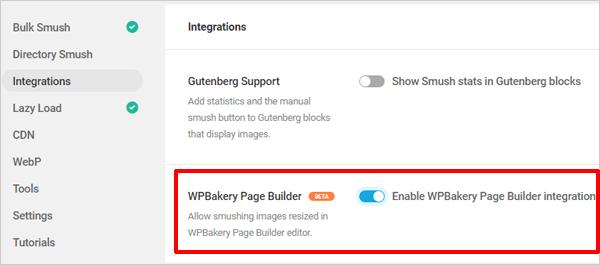 Smush WPBakery integration.