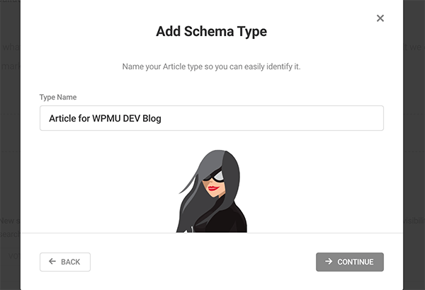 Where you name the schema type.