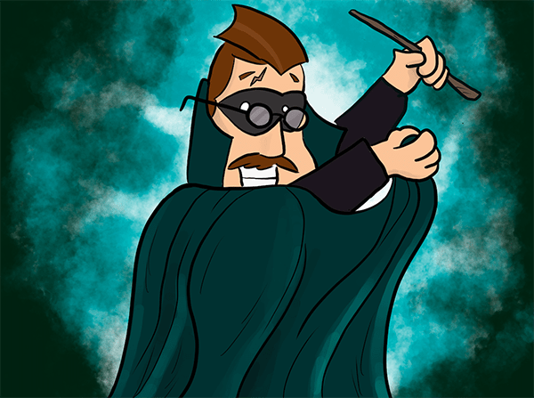Cartoon - Harry Hustle Potter