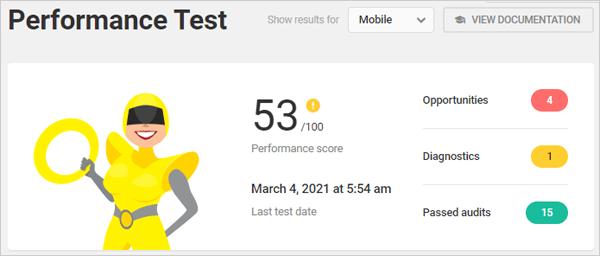 Hummingbird Performance Test - Mobile.