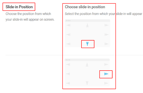 Slide-in Position (choose)