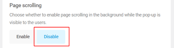 Page Scrolling