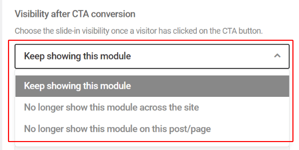 Visibility After CTA Conversion