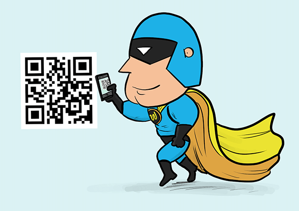 dev man and qr codes