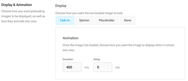 Where you set up display and animation.
