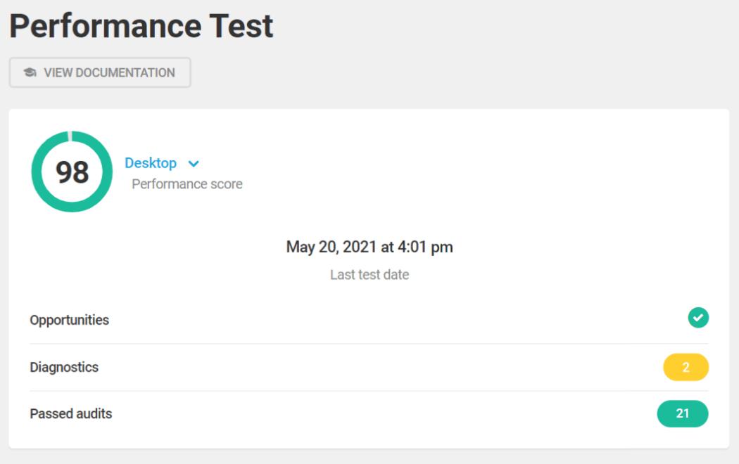 Hummingbird performance test 98