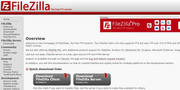 Converting HTML sites to WordPress - FileZilla SFTP Client