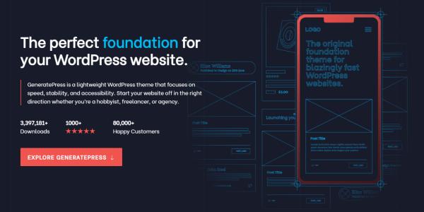 Converting HTML Sites to WordPress - GeneratePress Theme